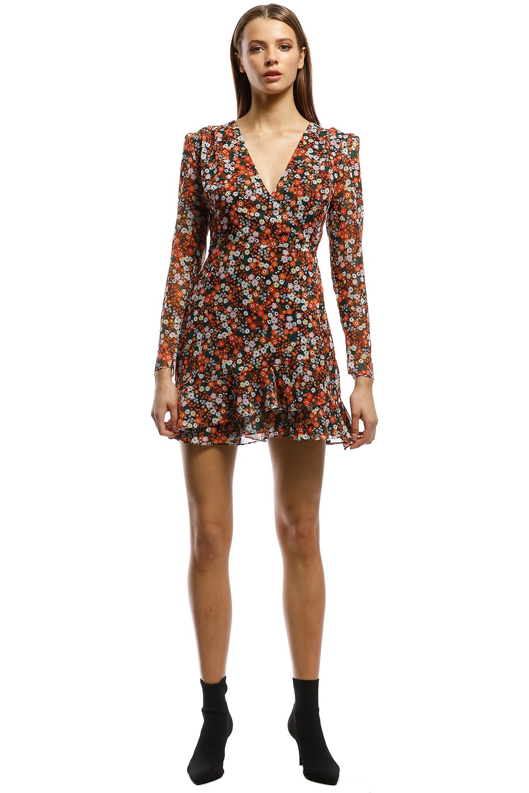 The East Order - Harlie LS Mini Dress - Multi -  Front