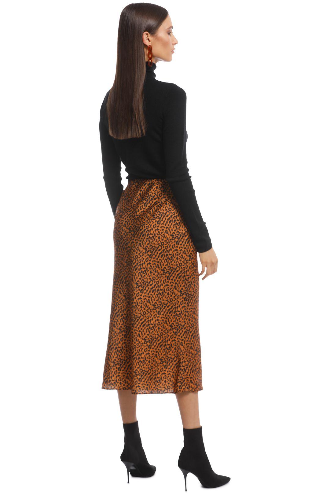 The East Order - Sahara Midi Skirt - Animal - Back