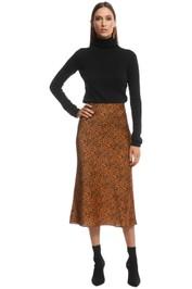 The East Order - Sahara Midi Skirt - Animal - Front