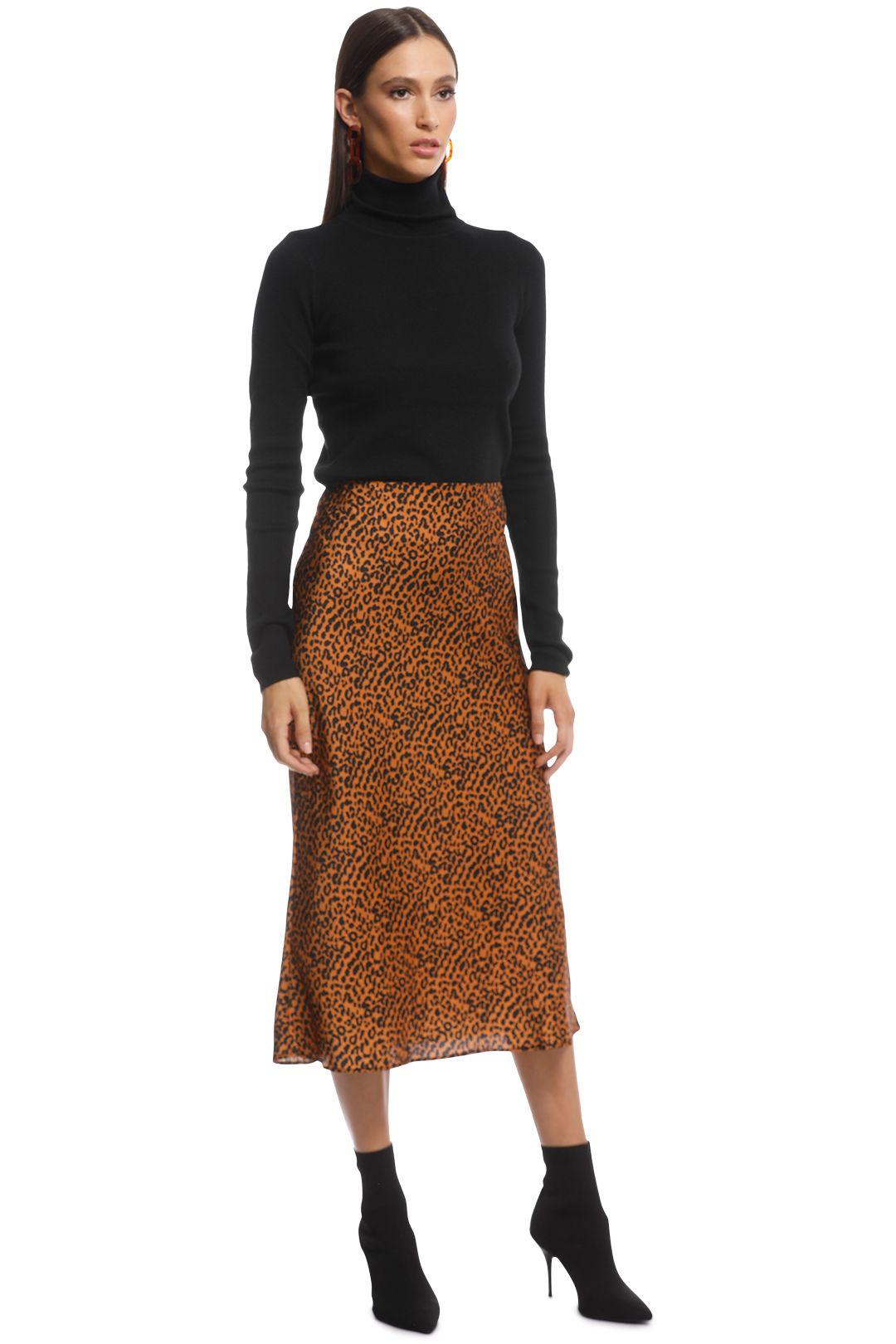 The East Order - Sahara Midi Skirt - Animal - Side