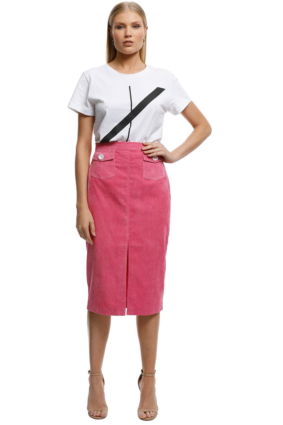 The East Order - Tarvi Skirt - Pink - Front