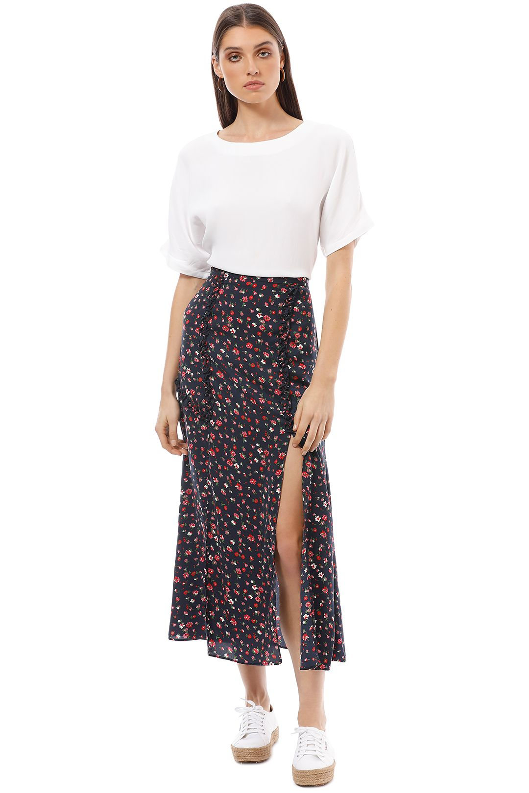 The Fifth - Sonic Skirt - Floral - Front