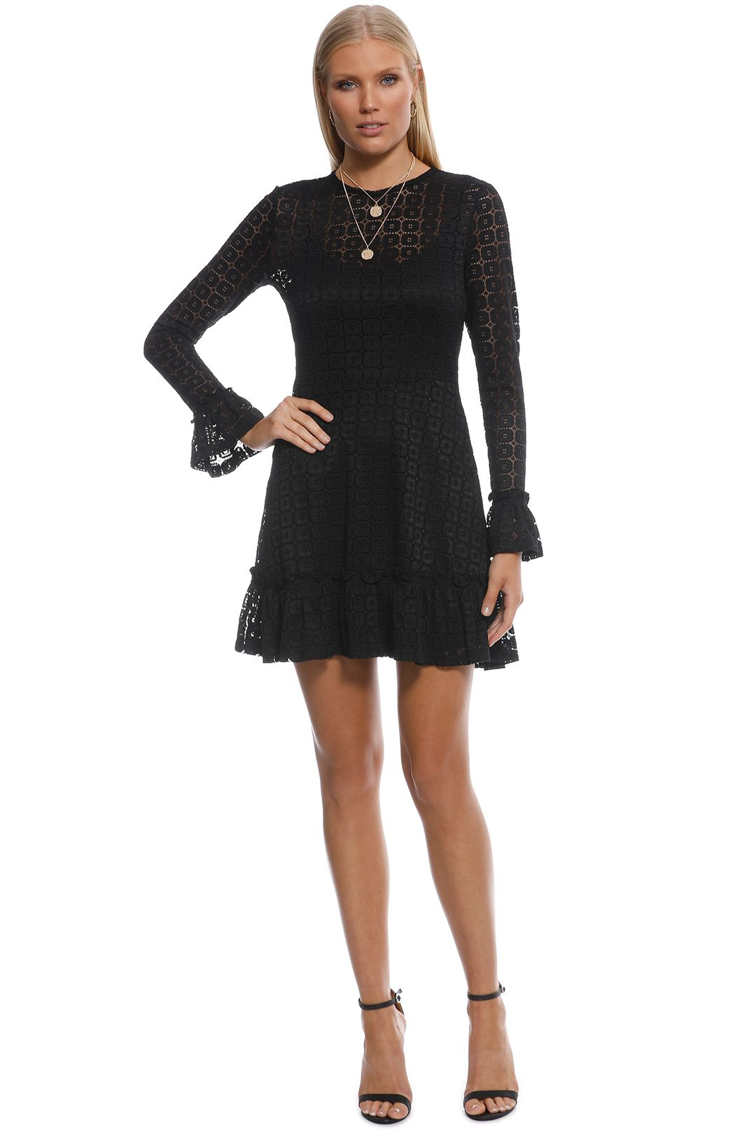 The Fifth Label - Symbols LS Dress - Black - Front