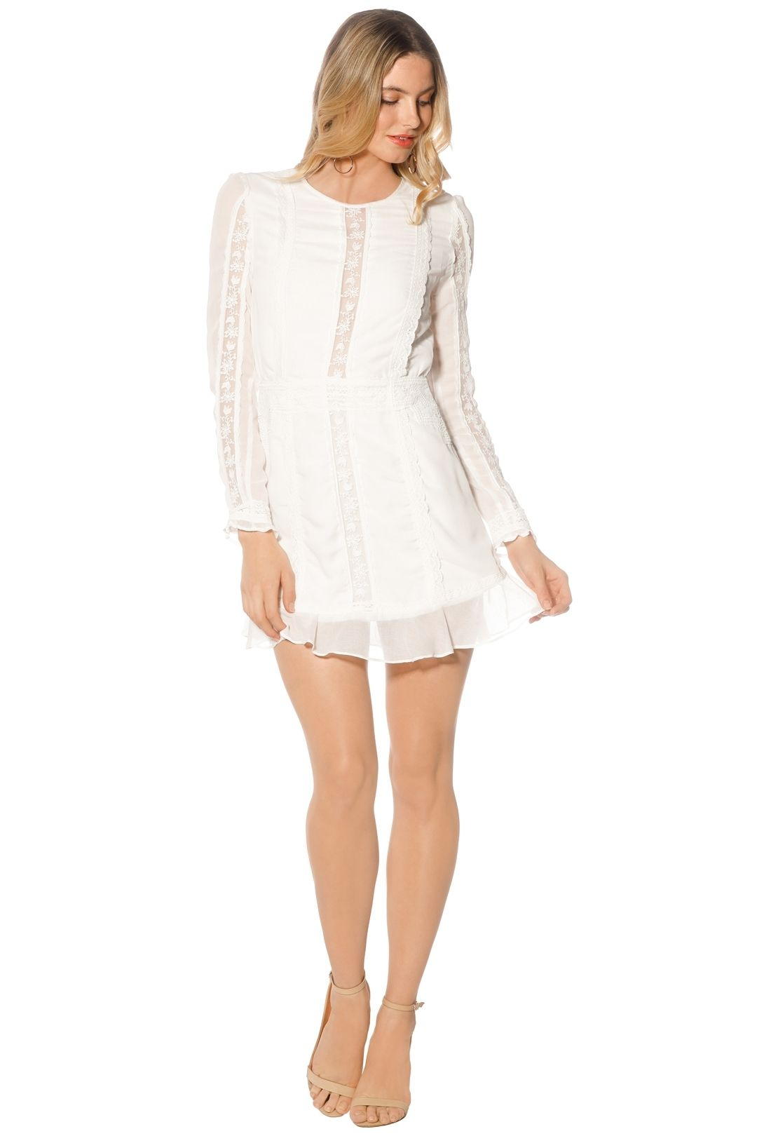 The Jetset Diaries - Amorie Mini Dress - White - Front