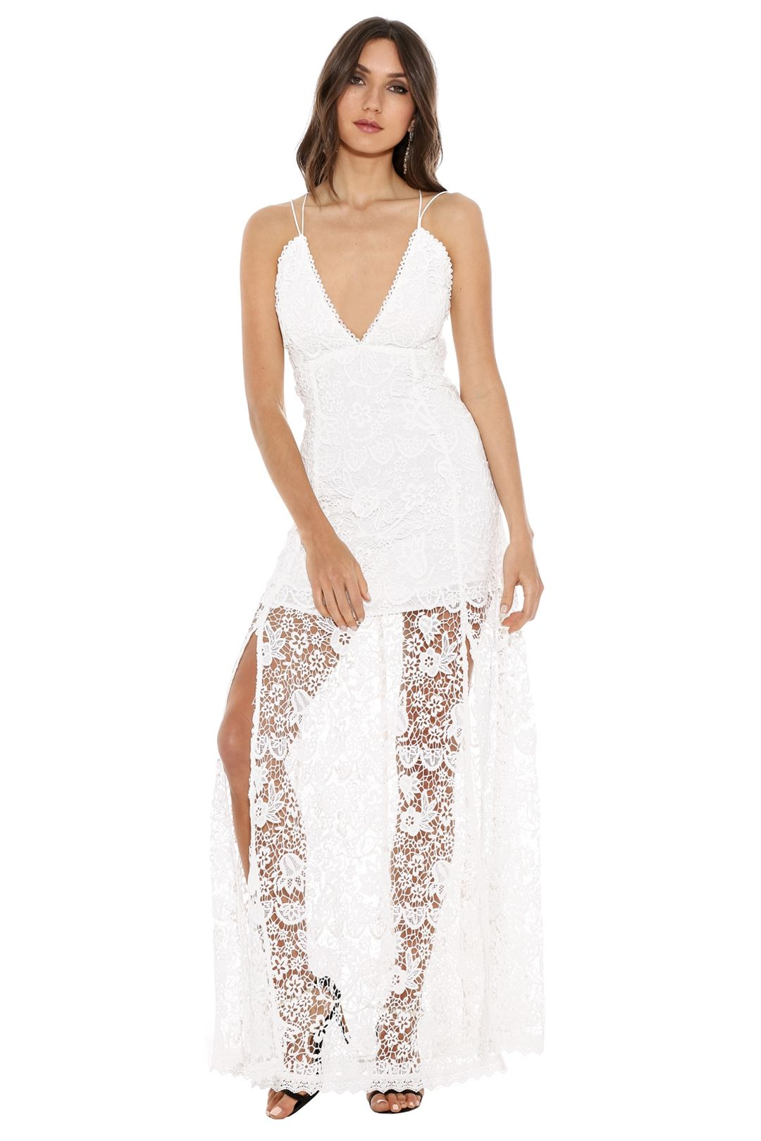 The Jetset Diaries - Fez Maxi Dress - White - Front