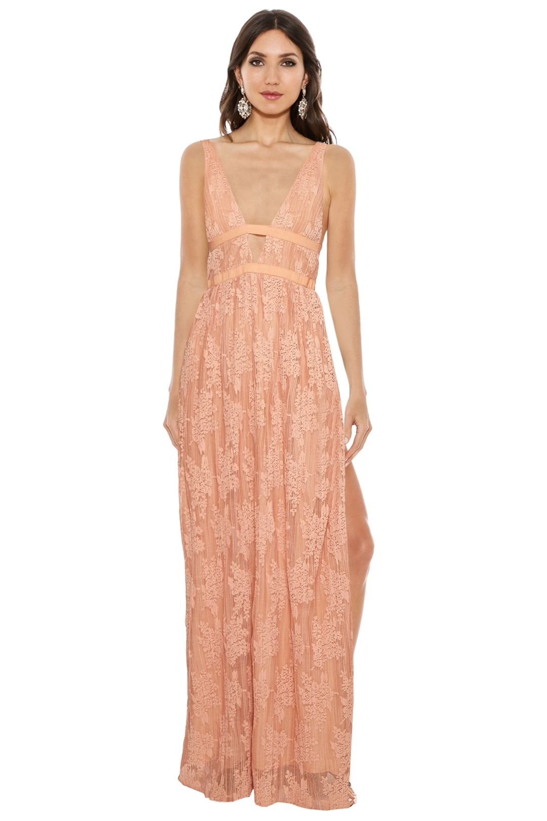 The Jetset Diaries - Gabrielle Maxi Dress - Orange - Front