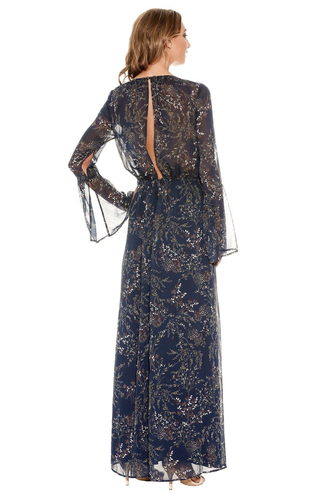 The Jetset Diaries - Mediterranean Maxi Dress - Blue - Back