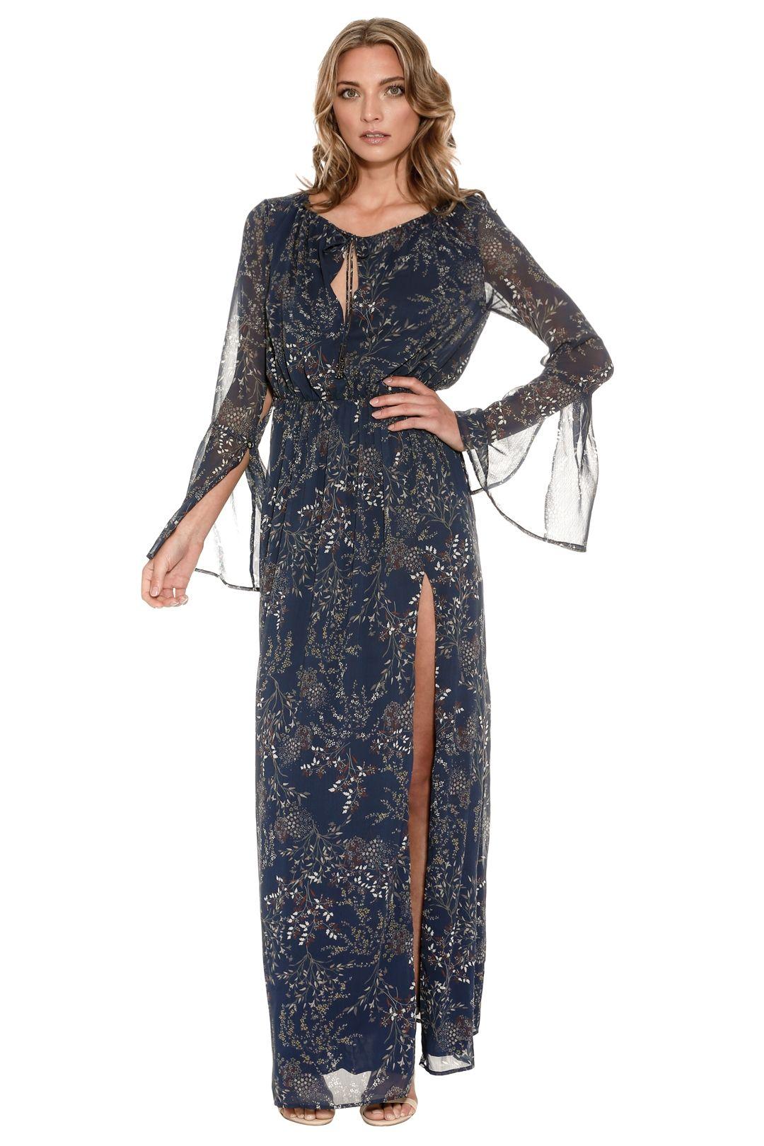 The Jetset Diaries - Mediterranean Maxi Dress - Blue - Side 2