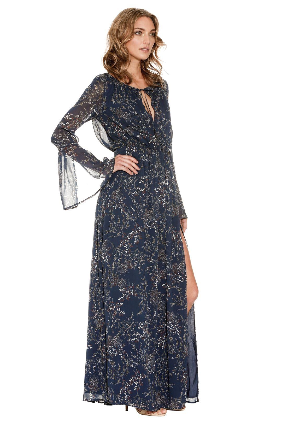 The Jetset Diaries - Mediterranean Maxi Dress - Blue - Side