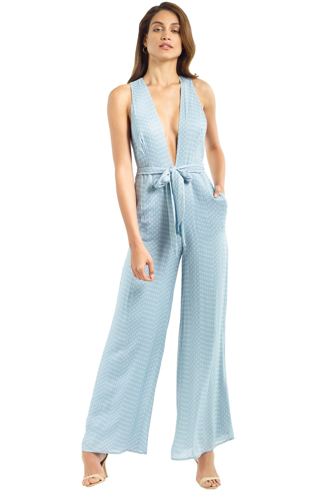 The Jetset Diaries - Mohea Jumpsuit - Sterling Blue - Front