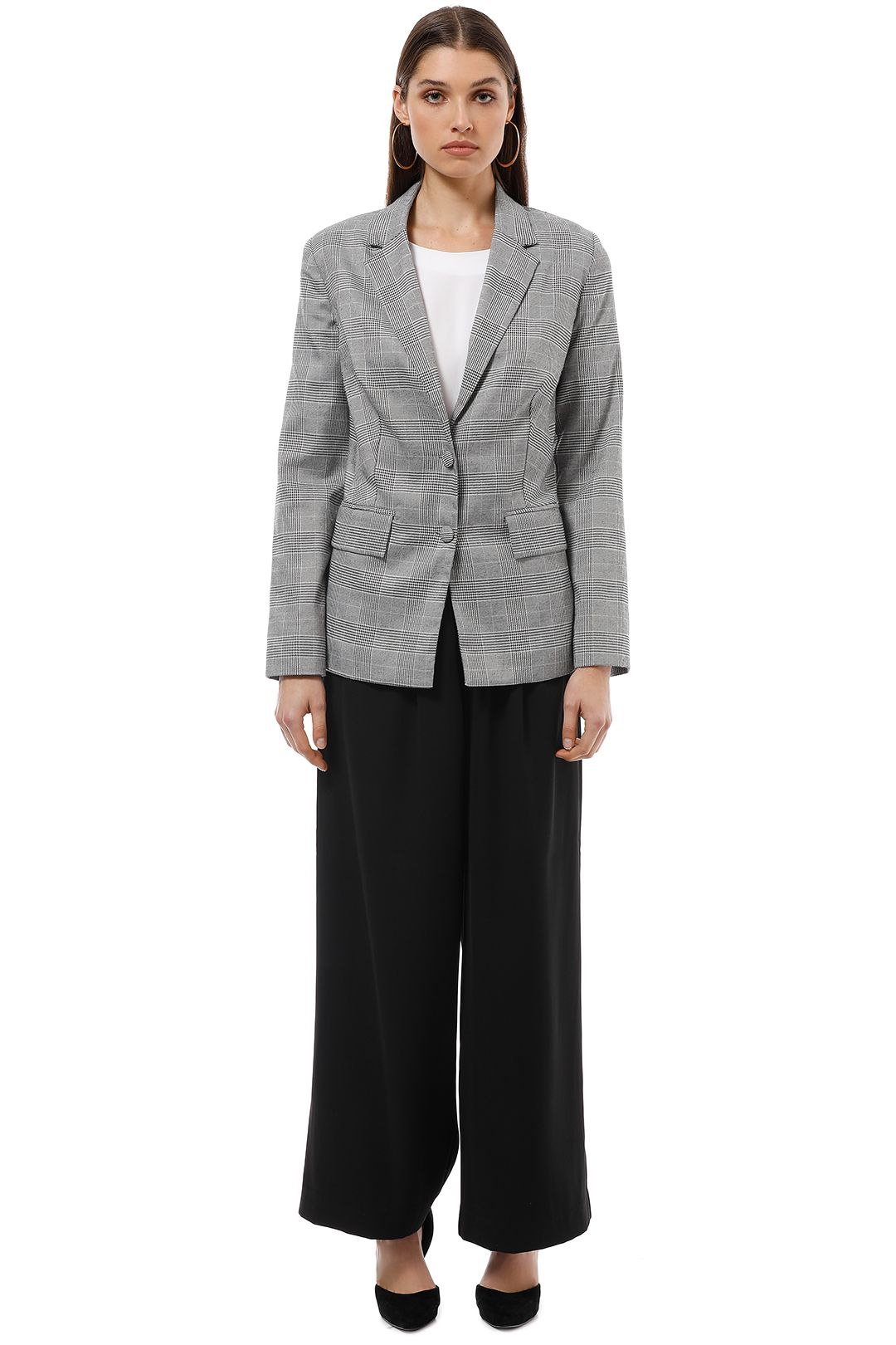The Jetset Diaries - Portman Blazer - Grey - Front