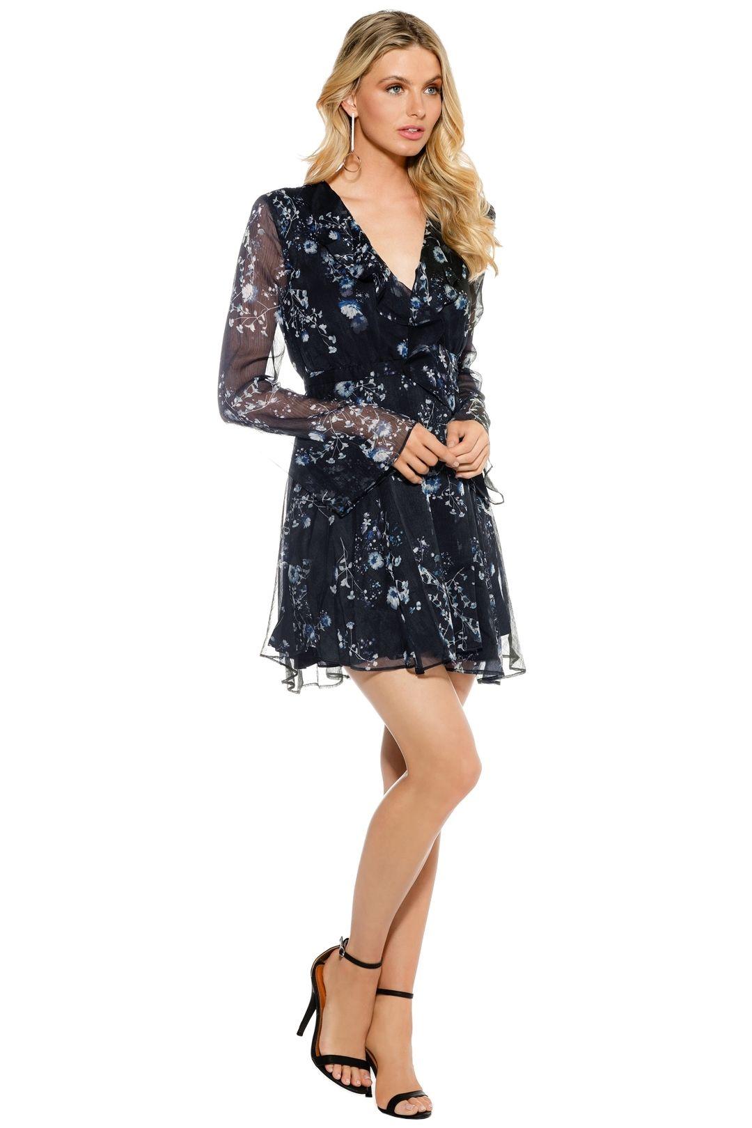 The Jetset Diaries - Tama Mini Dress - Blue Print - Side