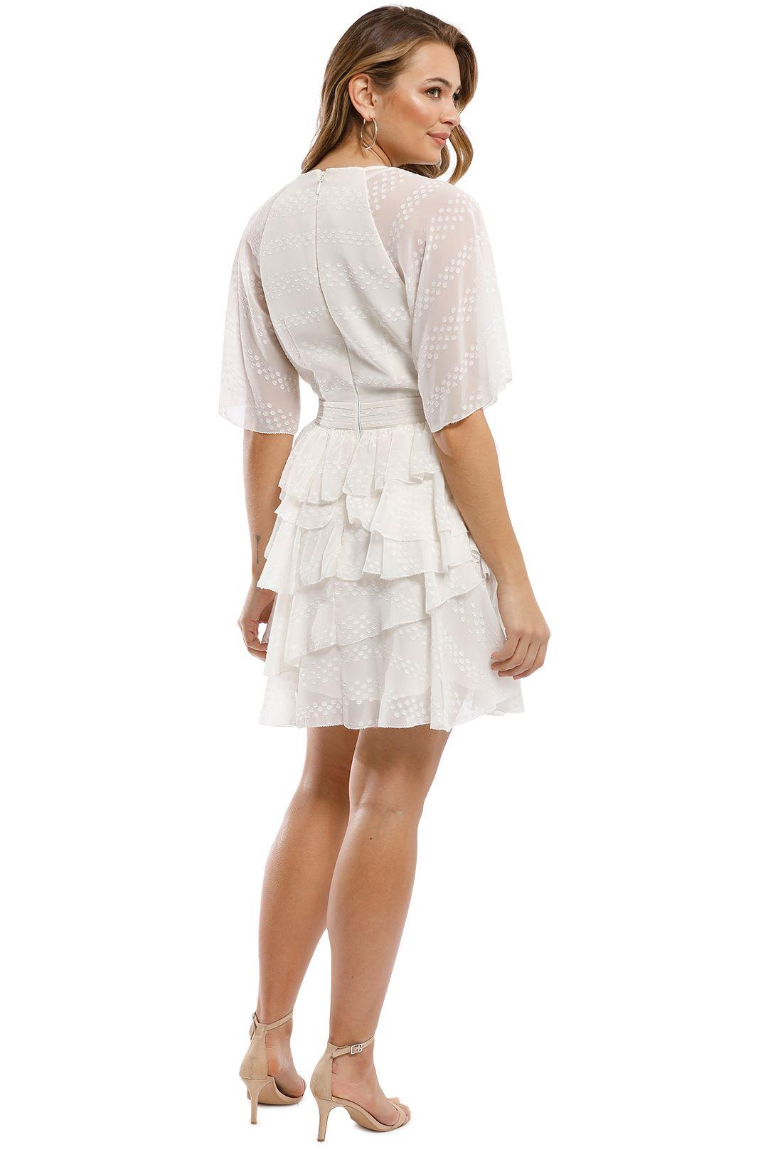 The Jetset Diaries - Twiggy Mini Dress - Ivory - Back
