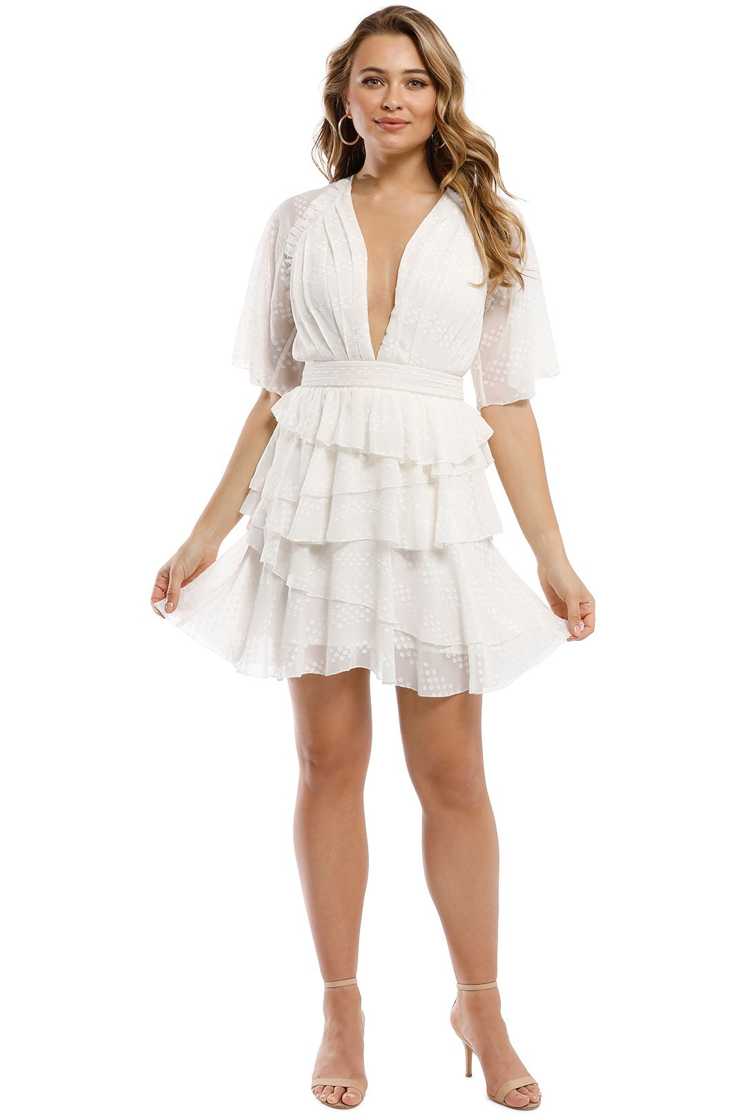 The Jetset Diaries - Twiggy Mini Dress - Ivory - Front