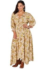 The Poetic Gypsy Gypsy Child Maxi Dress Yellow