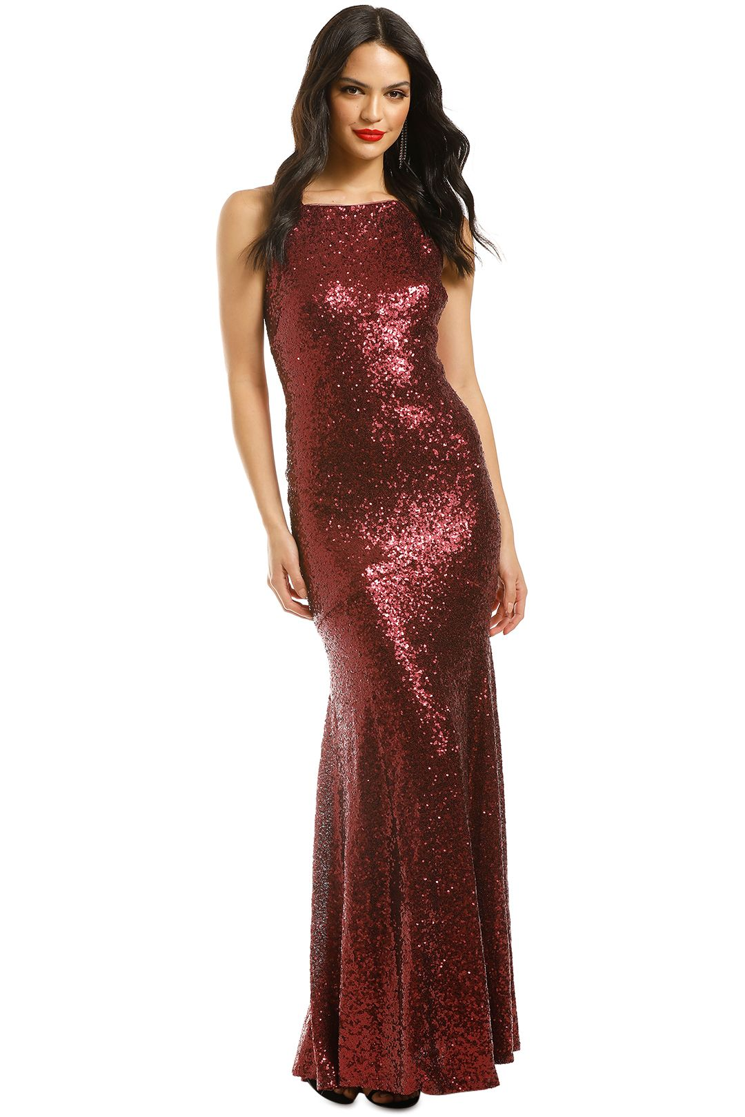 Theia-Jessica-Gown-Garnet-Front