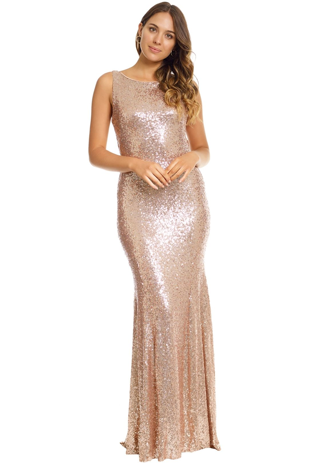 Theia - Gemma Gown - Rose Gold - Front