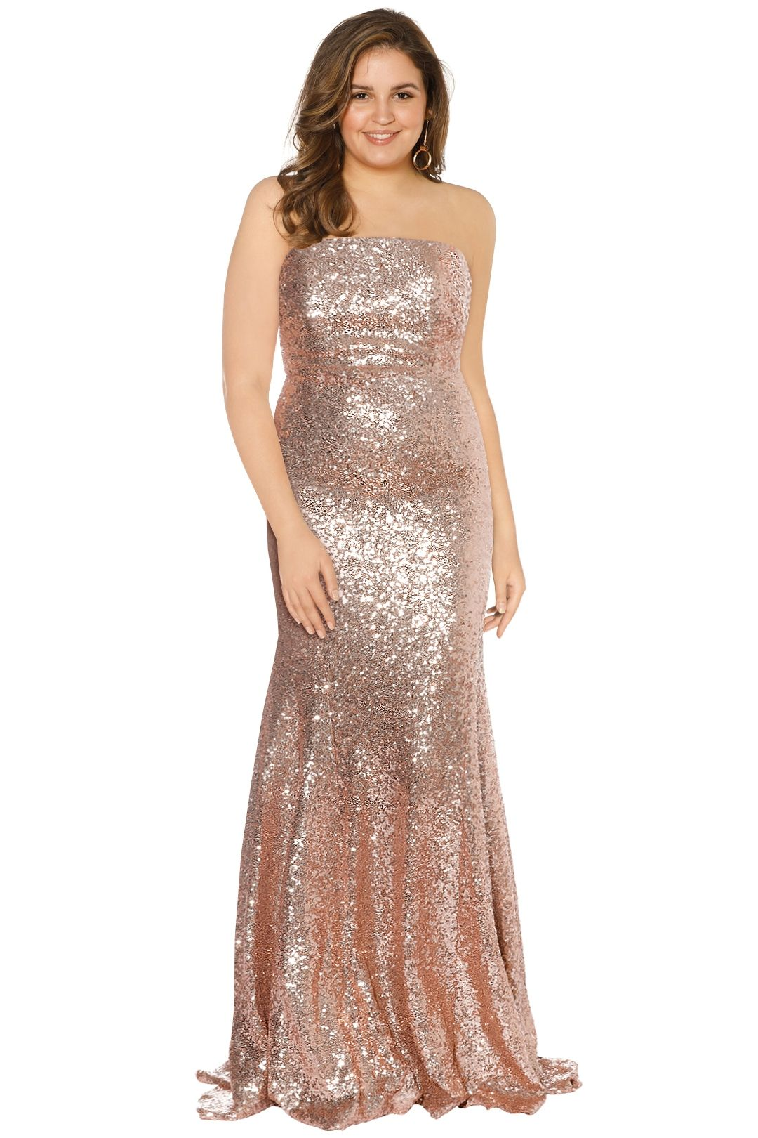 Theia - Gigi Gown - Rose Gold - Front