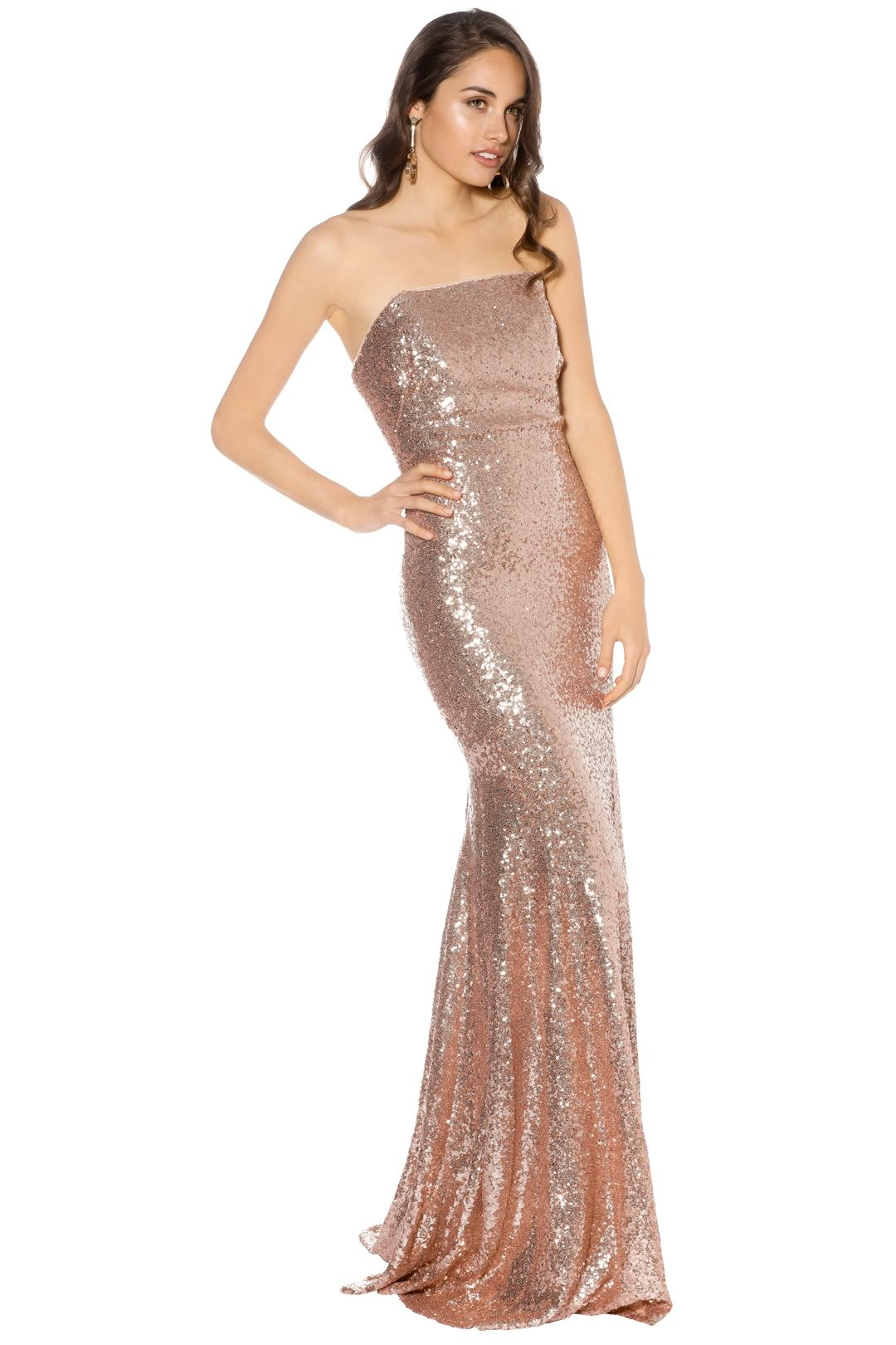 Theia - Gigi Gown - Rose Gold - Side