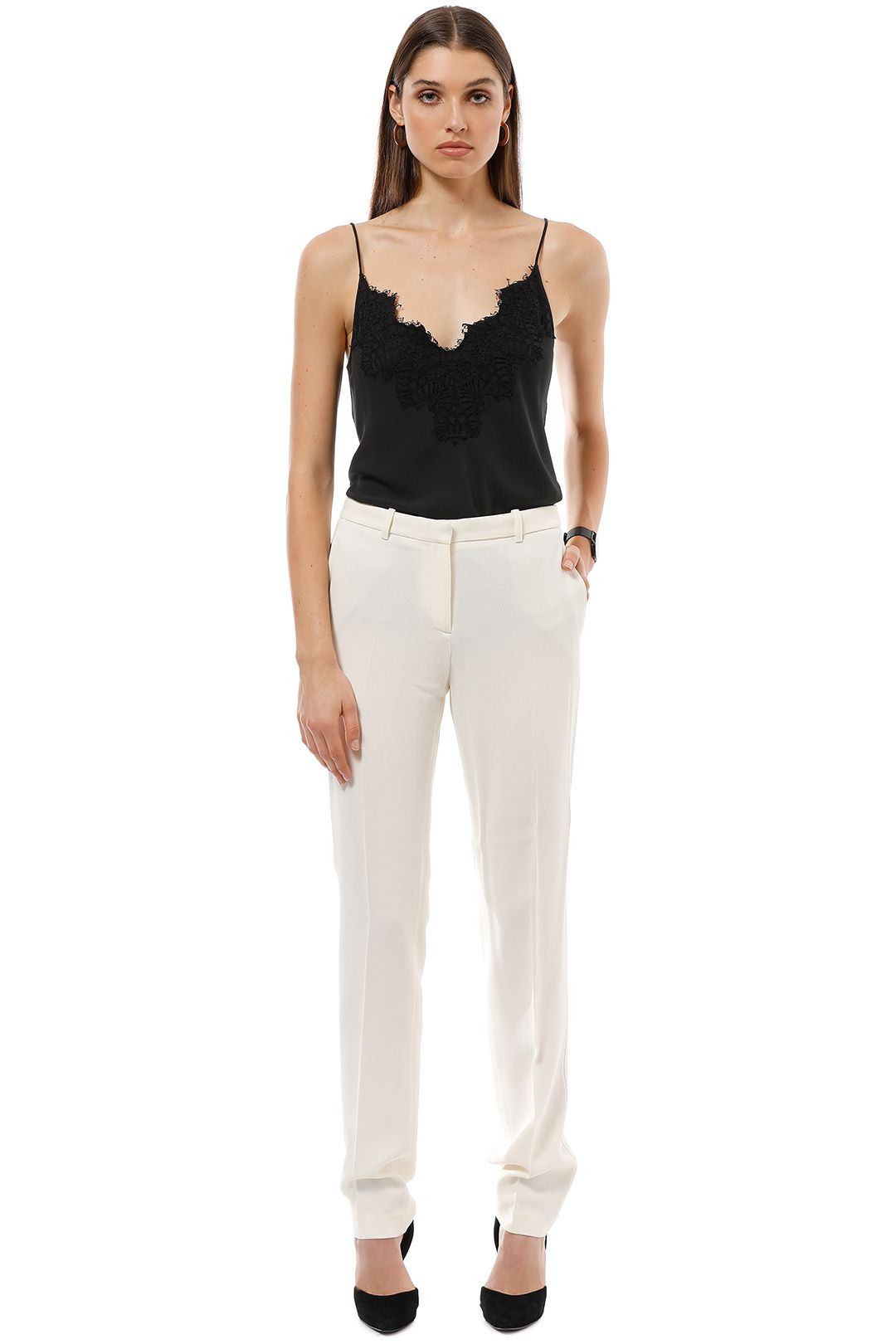 Theory - Elfinis Pant - Ivory - Front