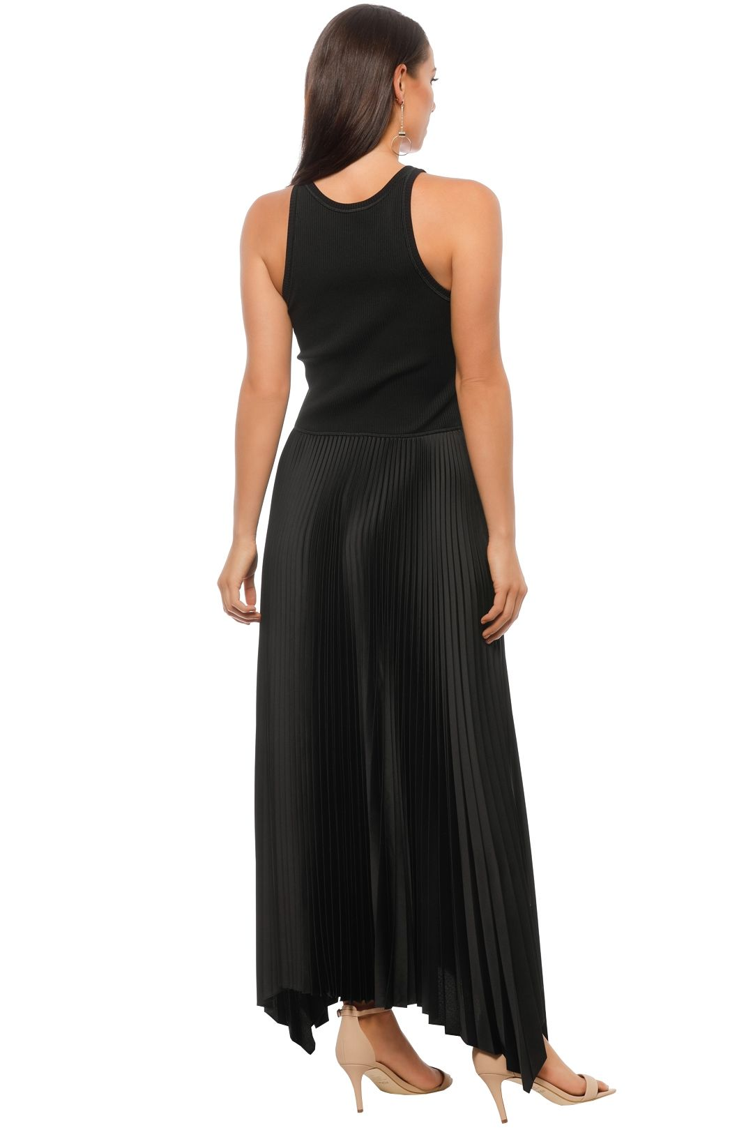 Theory - Vinessi Pleat Dress - Black - Back