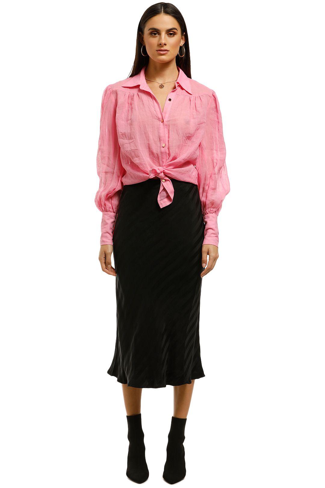 Third-Form-Bias-Midi-Skirt-Black-Front