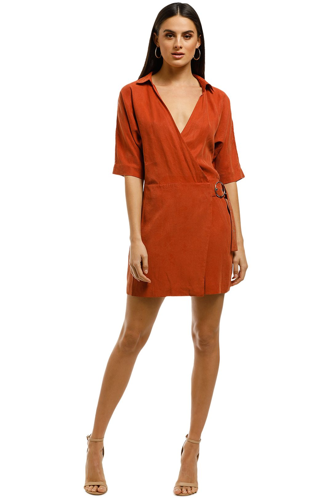 Third-Form-Eclipse-Wrap-Dress-Rosewood-Front