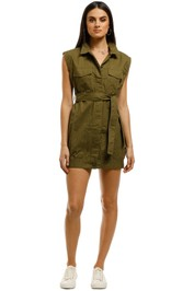 Third-Form-Pocket-Shirt-Dress-Khaki-Front