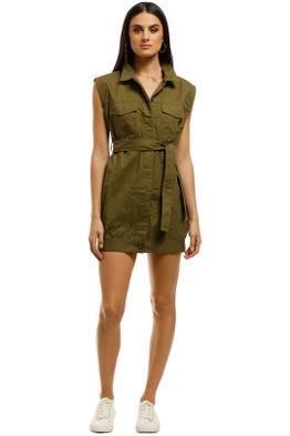 Third-Form-Pocket-Shirt-Dress-Khaki-Front