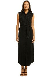 Third-Form-Western-Maxi-Dress-Black-Front
