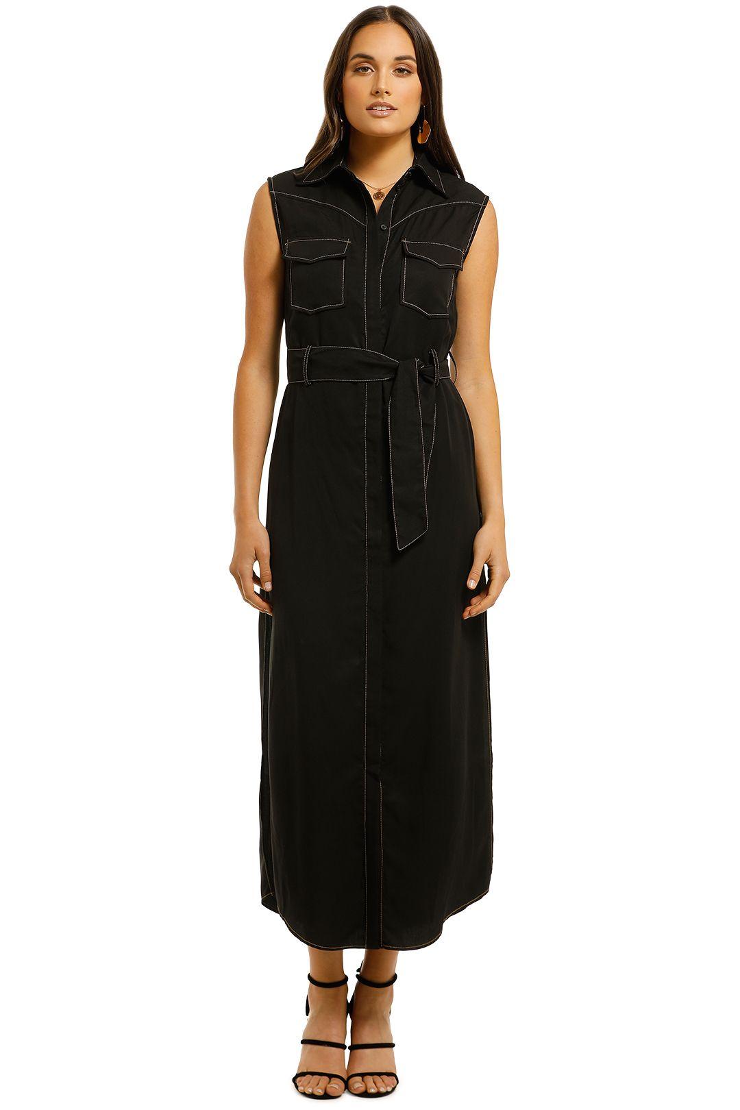 Third-Form-Western-Maxi-Dress-Black-Front