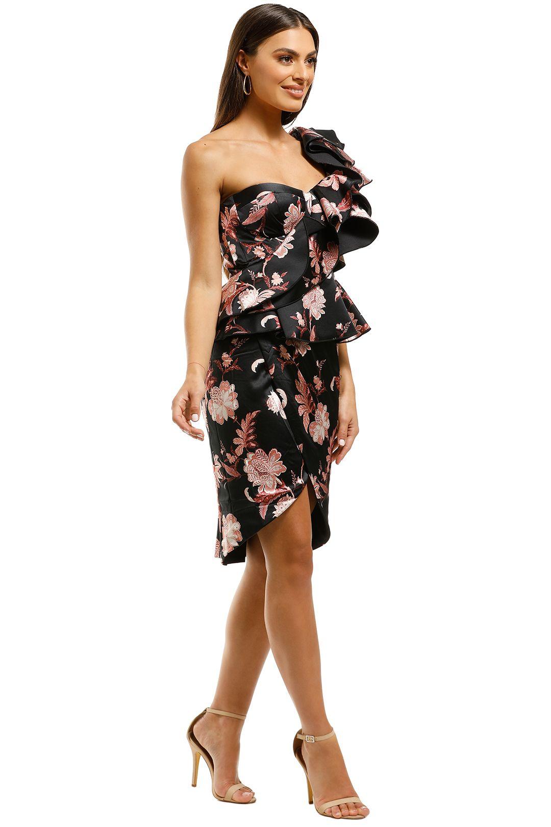 Thurley-Folklore-Print-One-Shoulder-Dress-Black-Side