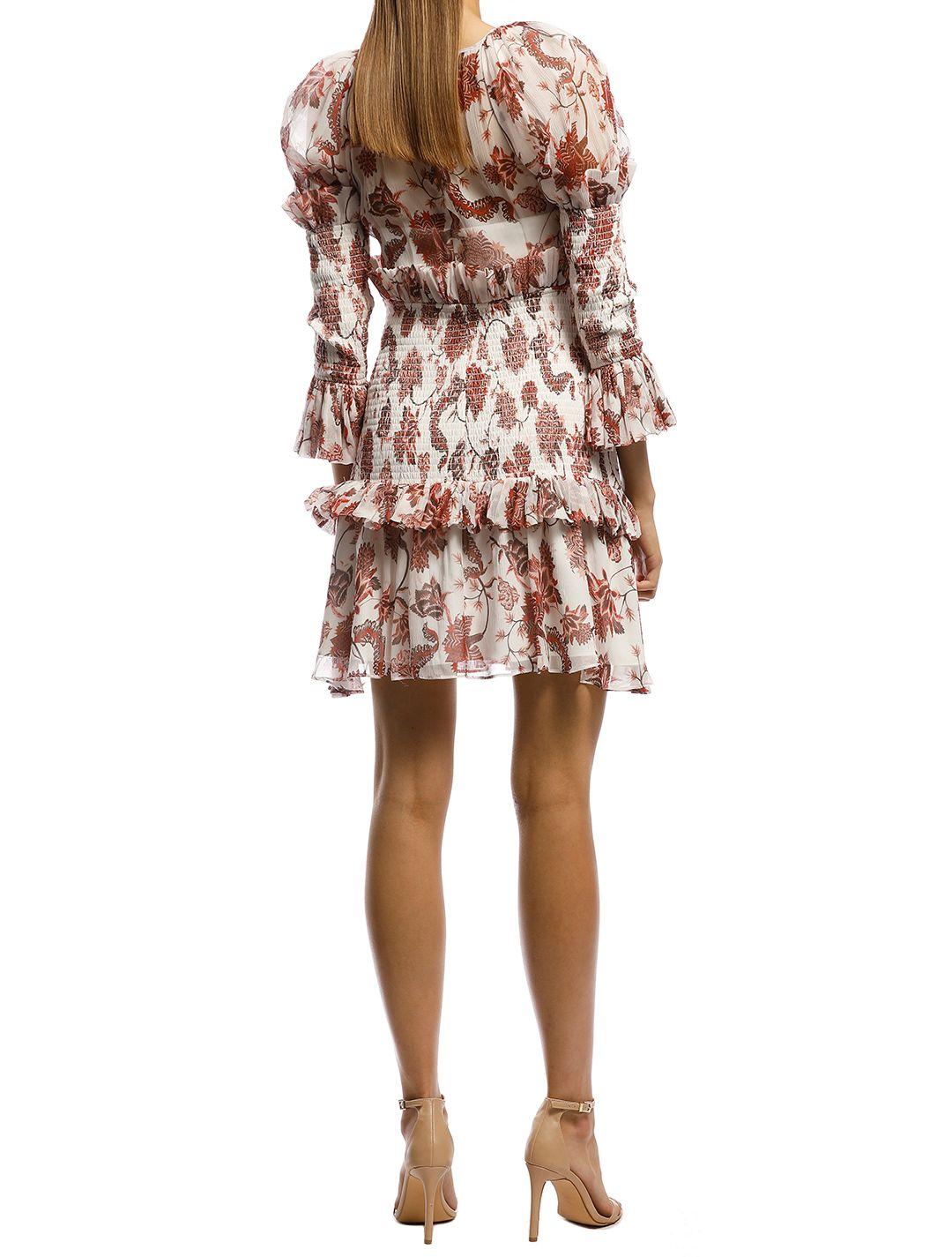 Thurley-Inca Mini Dress-Russet-Back