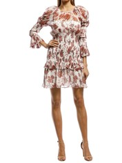 Thurley-Inca Mini Dress-Russet-Front