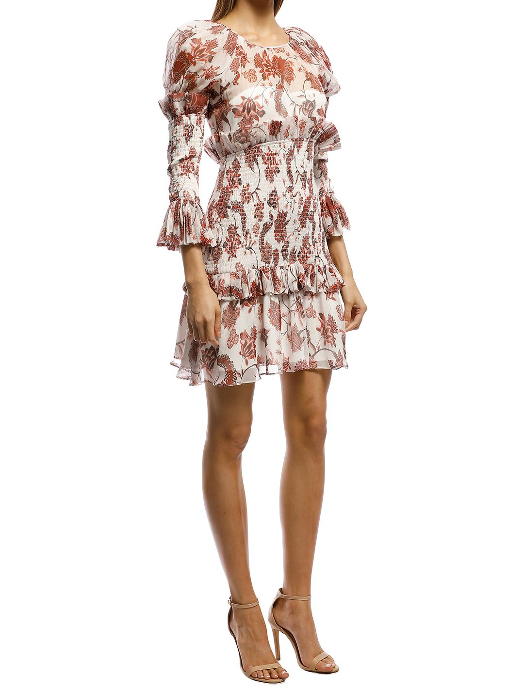 Thurley-Inca Mini Dress-Russet-Side