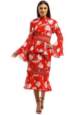 Thurley-Wild-Flower-Midi-Dress-Folkfore-Chintz-Red-Front