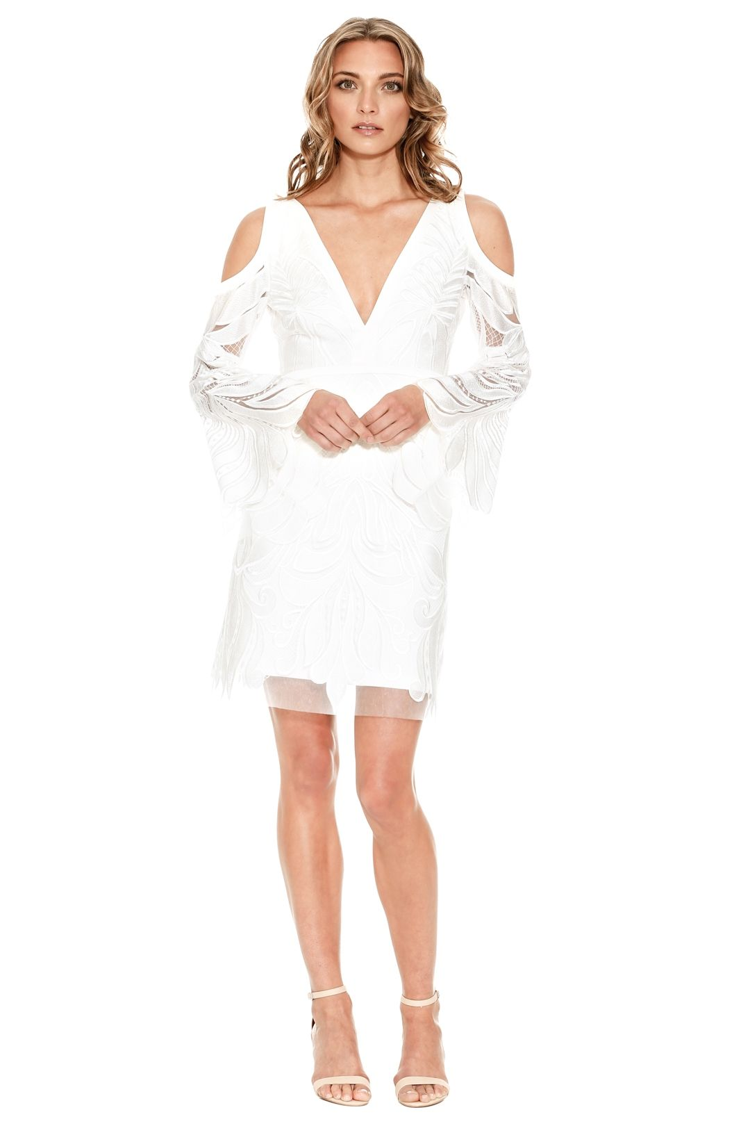 Thurley - Bach Embroidered Dress - White - Front