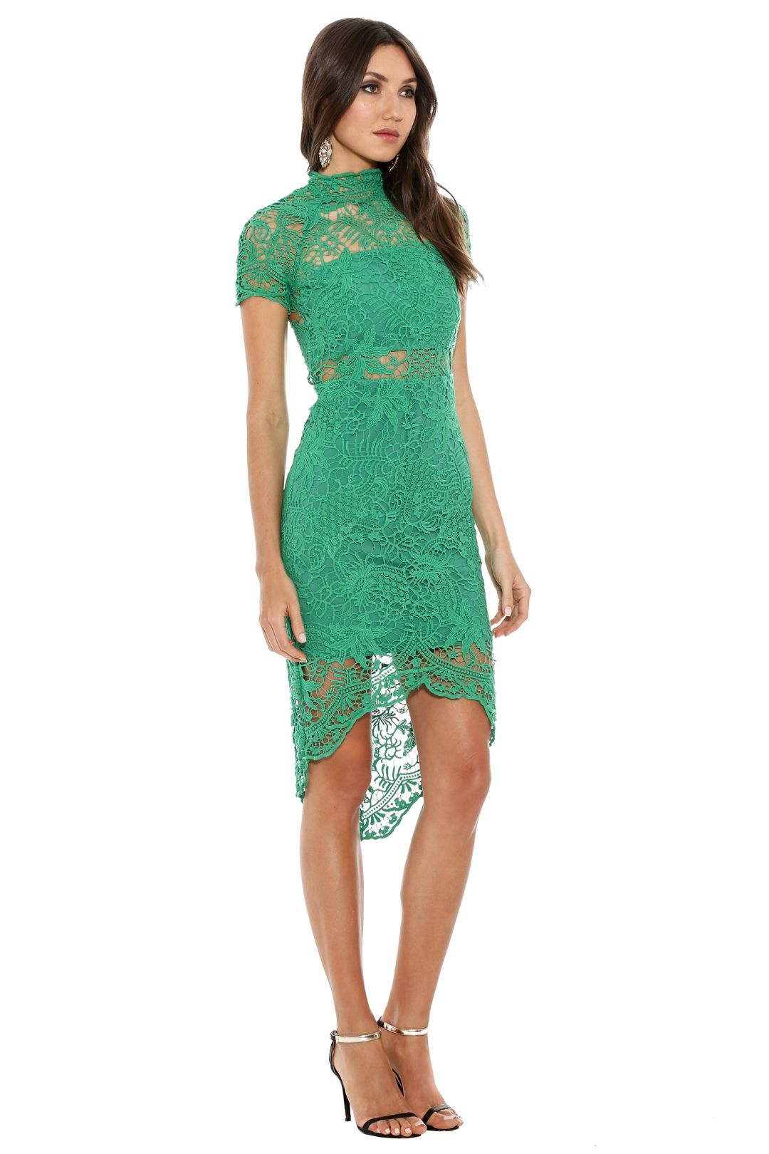 Thurley - Bed of Roses Lace Dress - Green - Side