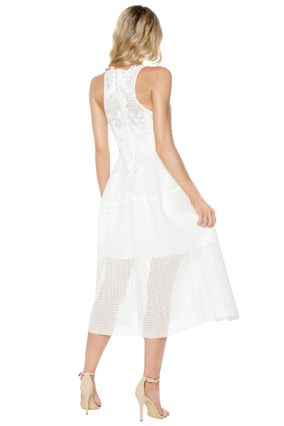 Thurley - Bianca Embroidered Dress - White - Back