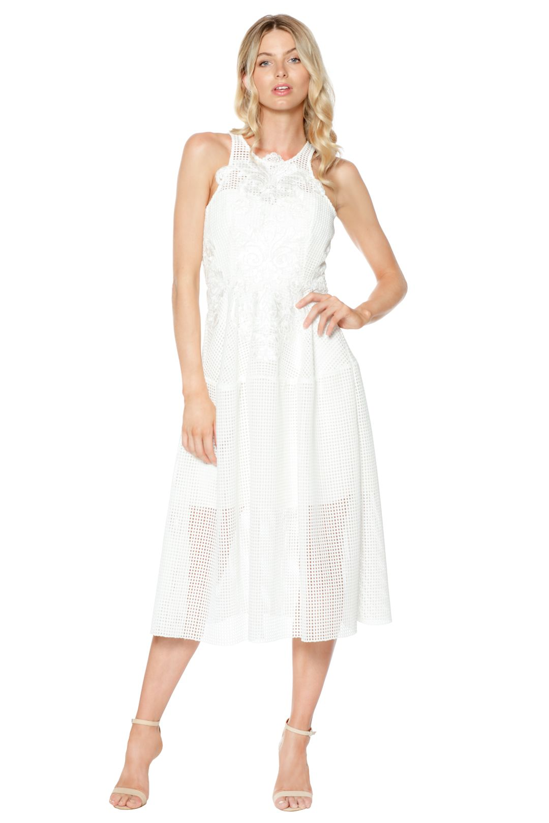 Thurley - Bianca Embroidered Dress - White - Front