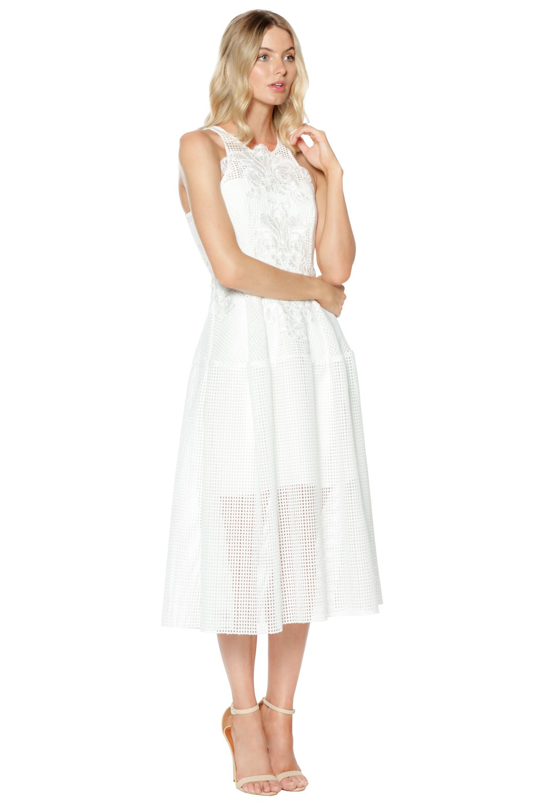 Thurley - Bianca Embroidered Dress - White - Side
