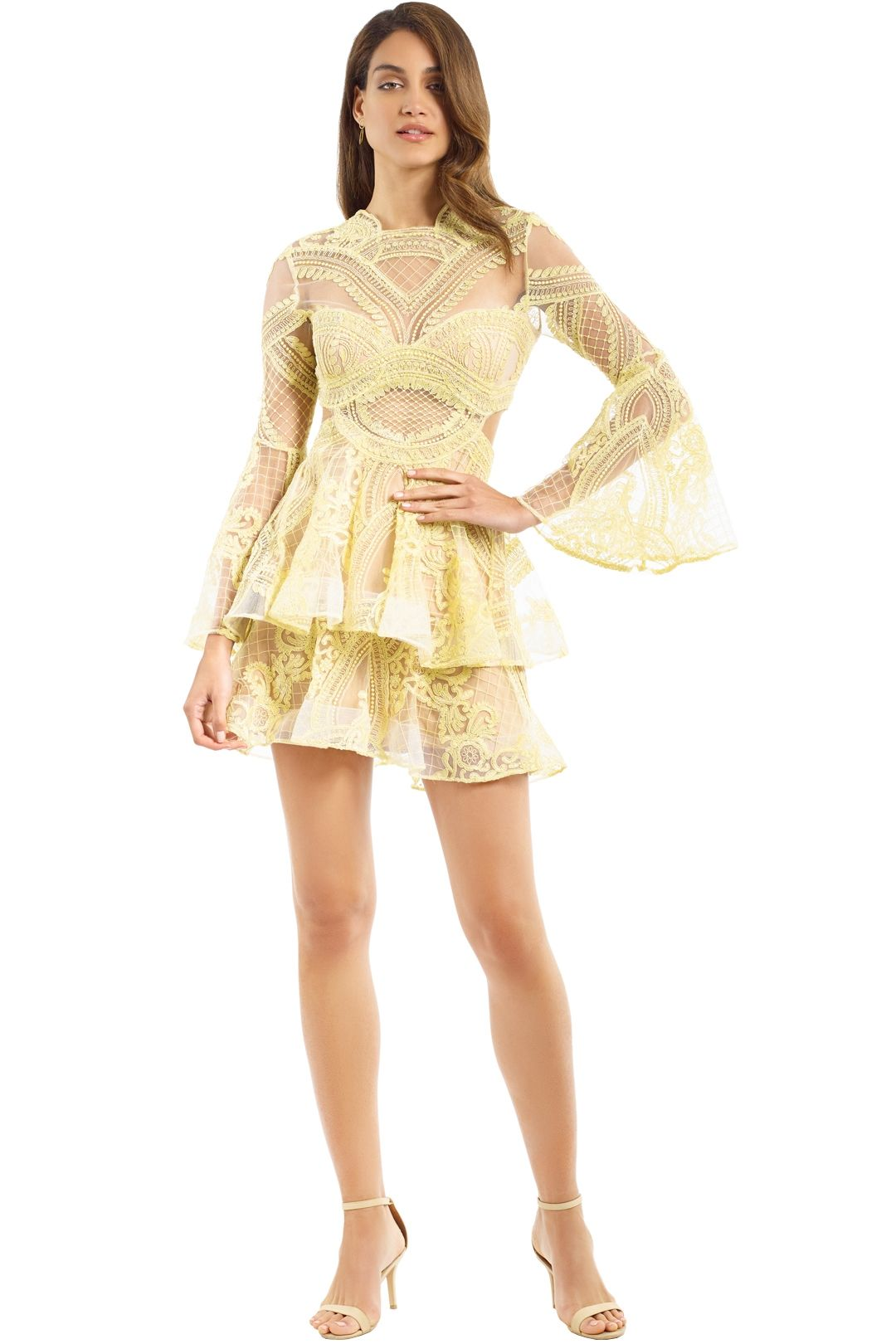 Thurley - Chameleon Mini Dress - Yellow - Front