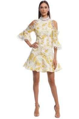 Thurley - Chintz Print Spliced Dress - Yellow Multi - Front