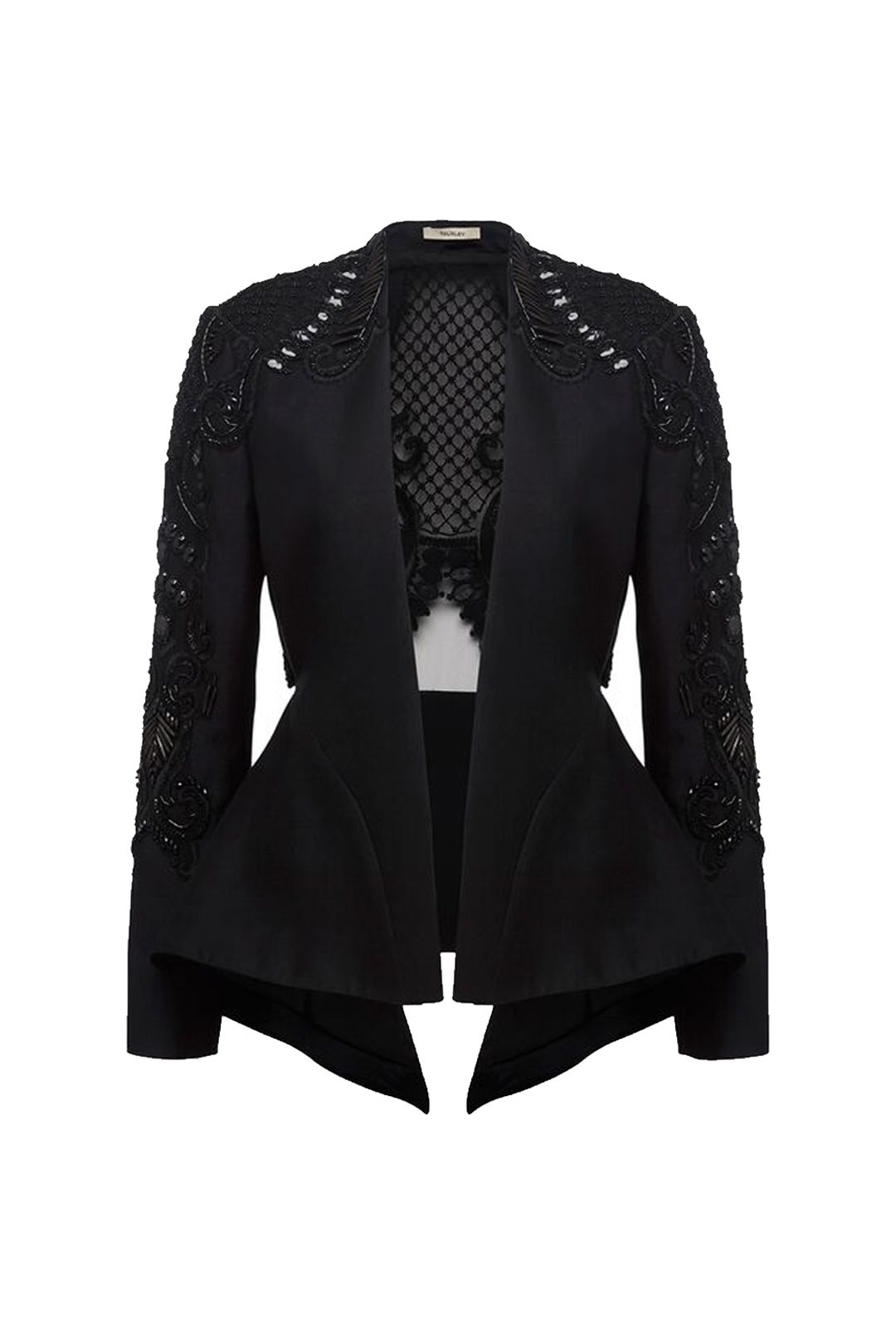 Thurley - Concerto Beaded Jacket - Black - Front