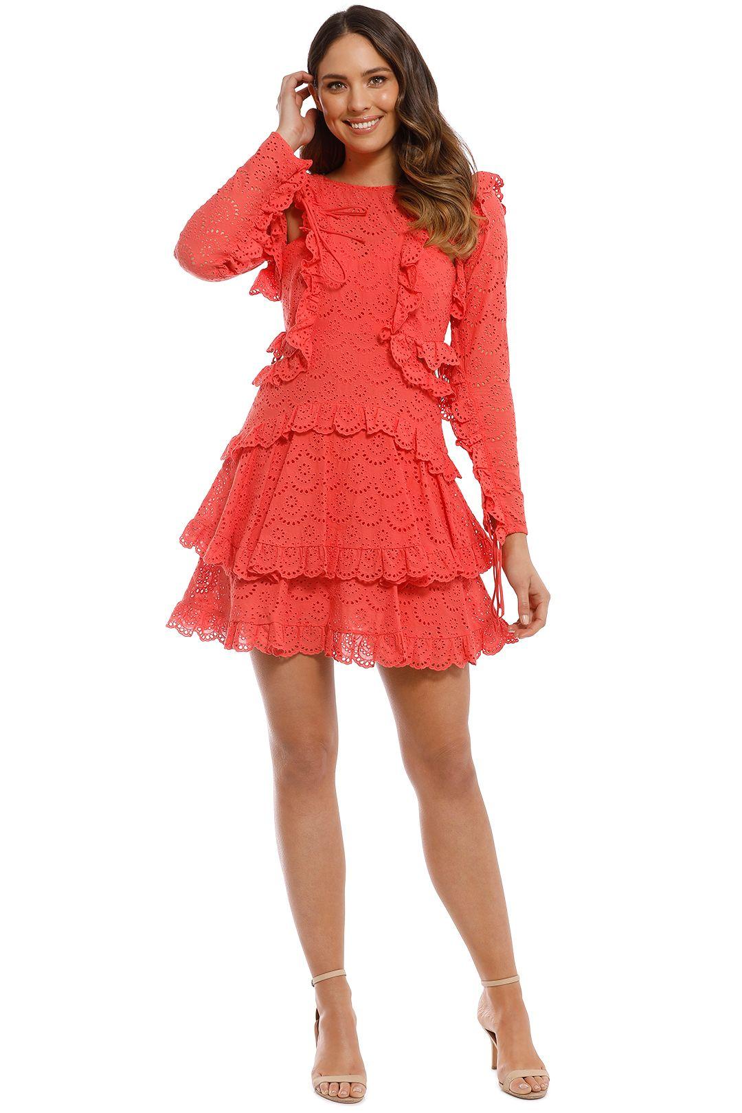 Thurley - Ebony Dress - Lipstick - Front