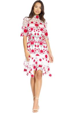 Thurley - English Rose Dress - White - Front