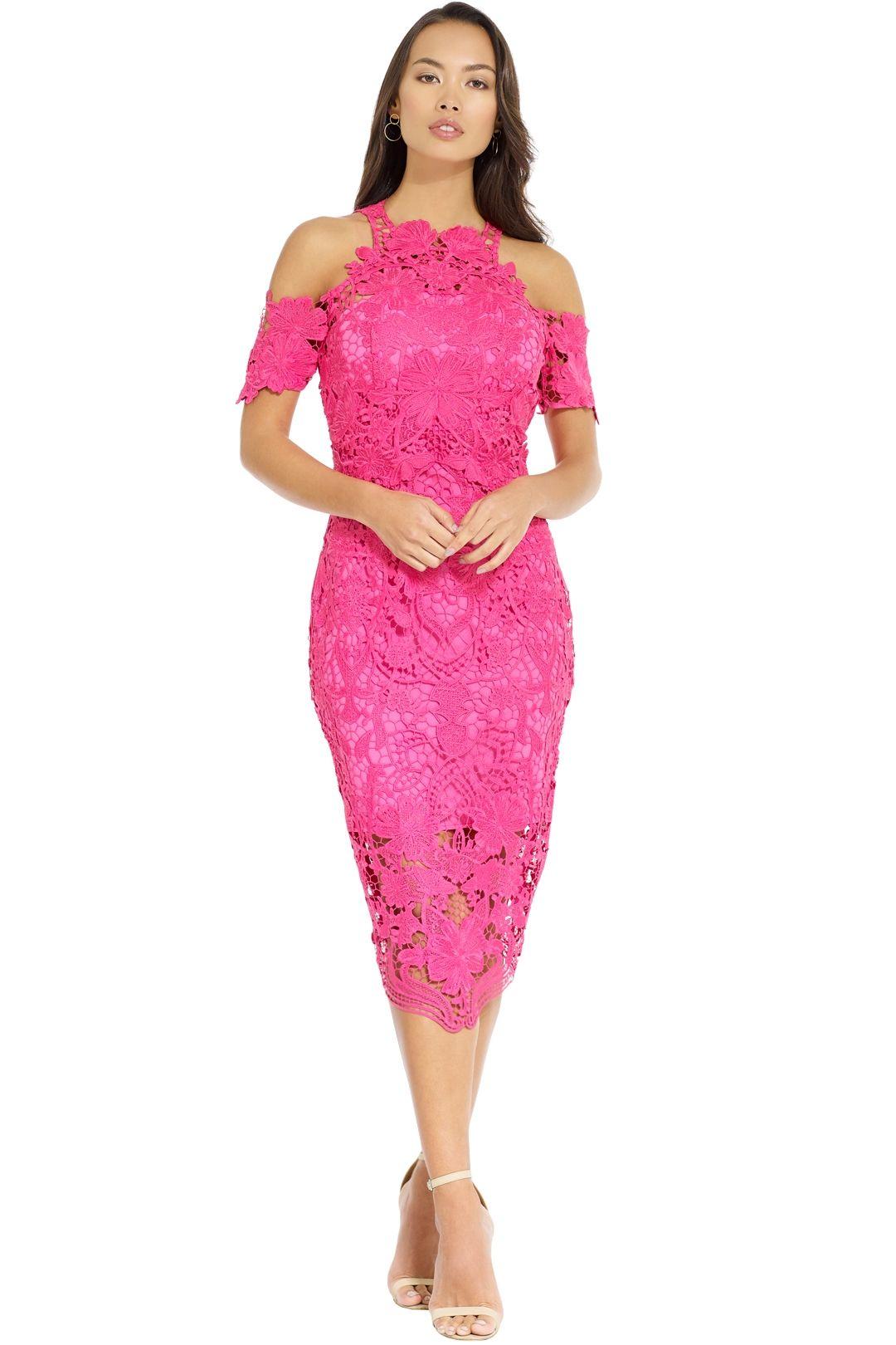 Thurley - Flower Bomb Lace Dress - Fuschia - Front