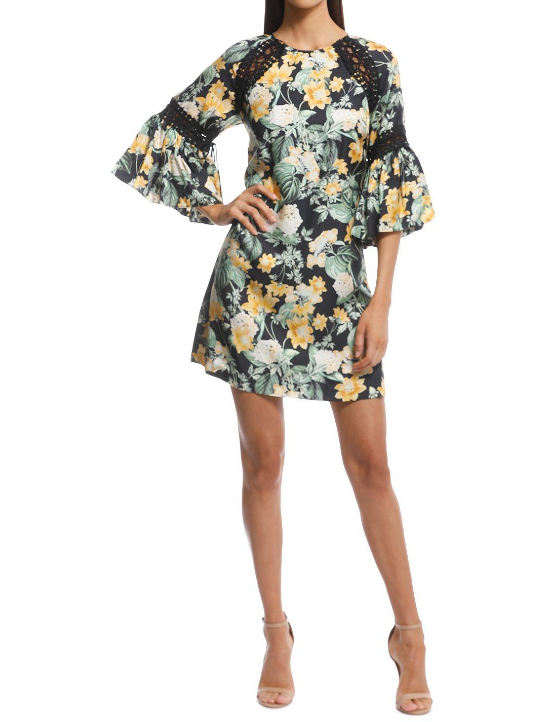 Thurley - Golden Fields Print Dress - Print - Front