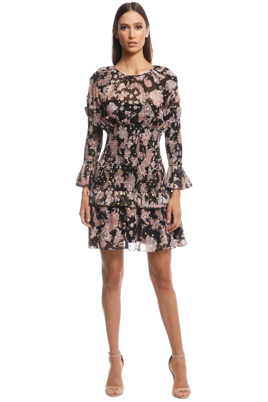 Thurley - Island Song Mini Print Dress - Black Multi - Front