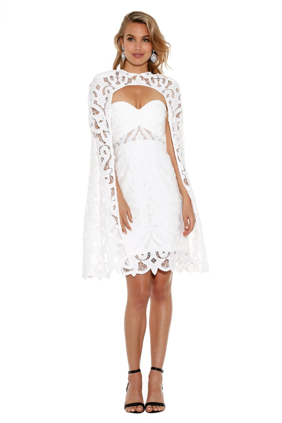 Thurley - Khalessi Cape Dress - White - Front